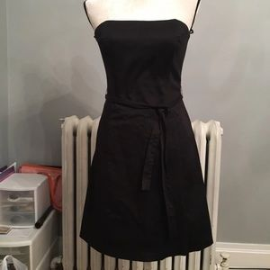 WHBM black strapless dress size 6
